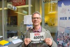 Eugen Huber, Stadt Luzern, Startnummer 40 091, zum 41. Stadtlauf: «Für mich ist der Stadtlauf eine Selbstbestätigung. Dabei dürfen auch der Fun-Gedanke und das Gesellige nicht zu kurz kommen.» (Bild: LZ)