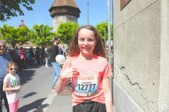 Loredana Fanelli, Waltenswil AG, Startnummer 12 777, zum 41. Stadtlauf: «Schuld im positiven Sinn, dass ich heute starte, ist mein Gotti. Sie hat mich angemeldet. Und das nicht zum ersten Mal.» (Bild: LZ)
