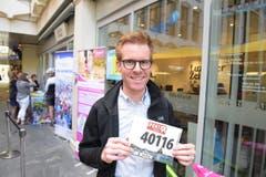 Jan Leu, Emmen, Startnummer 40 116, zum 41. Stadtlauf: «Wenn wir schon einen derartigen Lauf in der Region haben, sollten wir den Anlass auch unterstützen. Mitmachen kommt vor dem Rang.» (Bild: LZ)
