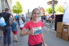 Riona Vranja, Ebikon, Startnummer 33 564, zum 41. Stadtlauf: «Ich freue mich auf alles hier am Stadtlauf. Ich bin schon etwas nervös, vor allem jetzt vor dem Start.» (Bild: LZ)