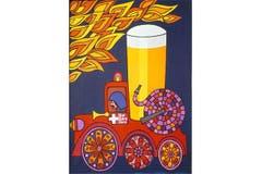 Brennt's irgendwo, dann muss gelöscht werden – und zwar mit Bier. Grafik von Elvira Vomstein aus dem Jahr 1970. (Bild: SBV)