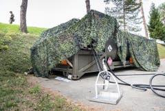 Volltruppenübung Trium der Schweizer Armee Seerücken (Bild: Andrea Stalder)