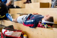 Ein Athlet entspannt sich (Bild: Philipp Schmidli)