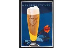 Zwei Biere, ein Herz: Darstellung von hellem und dunklem Bier aus dem Jahr 1959. (Bild: SBV)