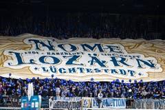 Choreo der FCL-Fans. | Bild: Philipp Schmidli (Luzern, 13. Mai 2018)