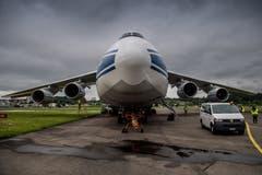 Die Antonov An-124 hat eine Nutzlast von 150'000 Kilogramm. | Bild: Boris Bürgisser (Emmen, 15. Mai 2018)