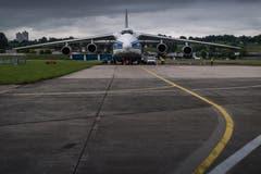 Die Antonov An-124 hat eine Spannweite von 73,30 Metern. | Bild: Boris Bürgisser (Emmen, 15. Mai 2018)