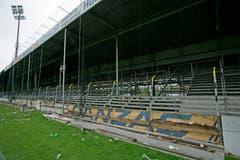 Ein letzter Blick auf den St.Galler Fansektor im Mai 2008. (Reto Martin)