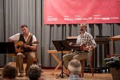 Lorenz Mühlemann (links) und David Joss | Bild: Manuela Jans-Koch (Altdorf, 19. Mai 2018)