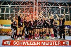 Die Spono Eagles sind Schweizer Meister. | Bild: Marc Schumacher / Freshfocus (Nottwil, 22. Mai 2018)