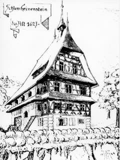 Das alte Schloss Geissenstein, das nach 1623 dem späteren Freihof Geissenstein weichen musste. (Bild: PD)