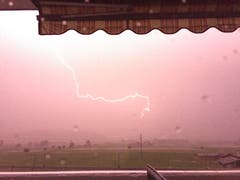 Greller Blitz in Wauwil. Leserbild: Corinne Fellmann