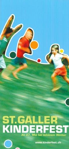 """""""Hüt ghört d Stadt üs"""" lautete das Motto des Kinderfests im Jahr 2002. (Bild:PD)"""