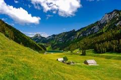 Im Frühling hat der Sämtisersee mehr Wasser als sonst. (Bild: Luciano Pau)
