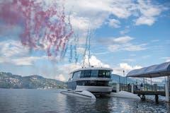 Unter anderem mit reichlich Feuerwerk wurde seine Taufe gefeiert. (Bild: Dominik Wunderli (Luzern, 24. Mai 2018))