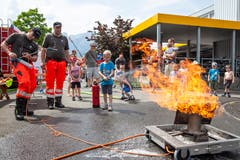 Wer den Feuerlöscher im Griff hat, kommt auch mit echtem Feuer klar.