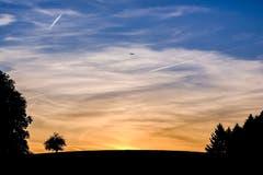 Stimmungsvoller Himmel über Hauptwil (Bild: Luciano Pau)
