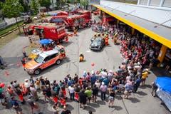 Die Feuerwehr erlebte einen Grossaufmarsch.