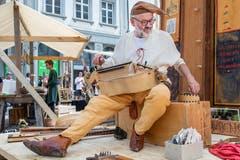 Unterhaltung zur Zeit der Reformation. (Bild: Hanspeter Schiess)