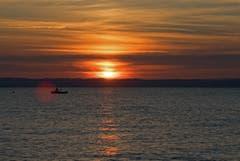 Sonnenuntergang in Arbon. (Bild: Regina Rosin)