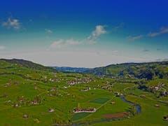 In Nesslau aufgenommen Richtung Krummenau mit der Drohne. (Bild: Renato Maciariello)