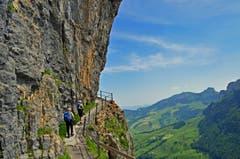 Auf dem Weg kurz nach dem Wildkirchli. (Bild: Renato Maciariello)