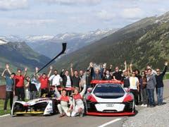 Eine grosse Crew ist nötig für einen solchen Video-Clip. (Bild: Audi AG, Spiringen, 28. Mai 2018)