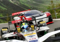 Die beiden Fahrzeuge, die auch am Formel-E-Rennen im Einsatz stehen. (Bild: Audi AG, Spiringen, 28. Mai 2018)