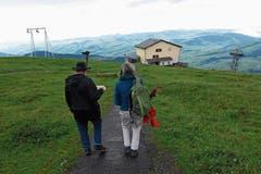 Auf dem Weg zur Bergstation der Luftseilbahn Wasserauen.