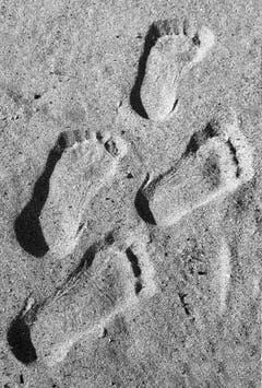 Spuren im Sand am Bodensee bei Altnau (Bild: Barbara Weber)