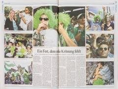 So berichtete das «St.Galler Tagblatt» über die Ostschweizer Fans in Bern. (Sabrina Stübi)