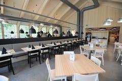 Das Restaurant bietet Platz für rund 170 Personen. (Bild: Urs Hanhart (Schattdorf, 31. Mai 2018))
