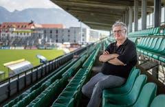 Hubert Nagel auf der Haupttribüne des «Planet Pure Stadion». (Bild: Bilder: Michel Canonica)