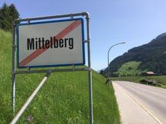 Ortsende von Mittelberg im abgeschiedenen Kleinwalsertal.