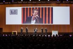 Die Schweizer A-Cappella-Formation Bliss sorgt für musikalische Unterhaltung.