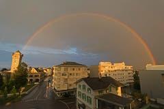 Regenbogen über Arbon (Bild: Regina Rosin)