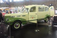 Cadillac Krankenwagen von 1941, gesehen an zürcher Ausstellung. (Bild: Josef Müller)