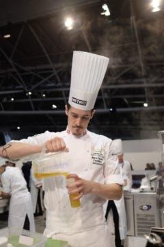 Mario Garcia konzentriert bei der Arbeit während des Wettkampfs. (Bild: Foto Plus Schweiz)