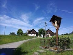 Am Jesuskreuz vorbei führt der Weg wieder ein Stück nach oben in Richtung Andwil. (Bild: Marlen Hämmerli)