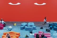 Die Installation «I miss Socialism, maybe» von Nedko Solakov ist an der Art Unlimited zu sehen. (Bild: Art Basel)