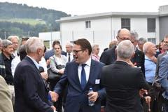 Regierungsrat Benedikt Würth ist es sich gewohnt, Hände zu schüttlen.
