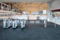 Das zuverlässige Einlasssystem von Wanzl begrüsst die Gäste im Eisstadion Burgau.