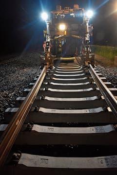 Die Gleise beim Kloster-Bahnhof werden erneuert.
