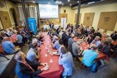 Frauenfeld TG - Die Thurgauer Zeitung lud zu einem Informationsanlass ins Brauhaus Sternen in Frauenfeld, wo sich rund 70 geladene Gäste einfanden. Bild: Reto Martin