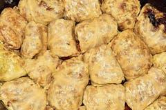 Sarma – Kohlroulade mit Hackfleisch und Reis.