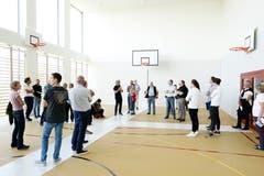 Auch die Turnhalle erstrahlt in neuem Glanz. (Bild: Stefan Kaiser (Menzingen, 14 Juni 2018))