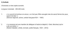 Frage aus dem Bereich Französisch. (Quelle: Kantonsschule Trogen)