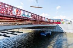 Im Bild ist die neue Obere Zollhausbrücke beim Seetalplatz (Roger Grütter 5.5.2017)