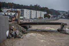 Hochwasserschutzmassnahmen Seetalplatz. (Nadia Schärli, 26. Oktober 2016)
