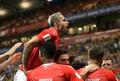 """...Oder wie Kommentator Sascha Ruefer es formulierte: """"Die Schweiz gewinnt 1:1!"""" (Bild: AP Photo/Themba Hadebe)"""